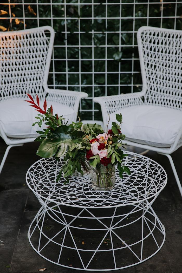 Modern Lounge from a Chic Modern Rooftop Wedding on Kara's Party Ideas | KarasPartyIdeas.com (17)