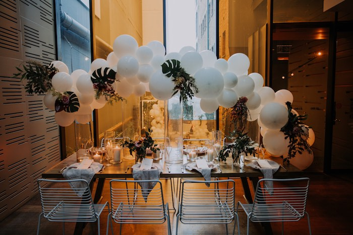 Guest Table from a Chic Modern Rooftop Wedding on Kara's Party Ideas | KarasPartyIdeas.com (13)