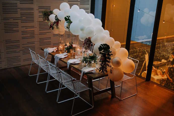 Guest Table from a Chic Modern Rooftop Wedding on Kara's Party Ideas | KarasPartyIdeas.com (12)