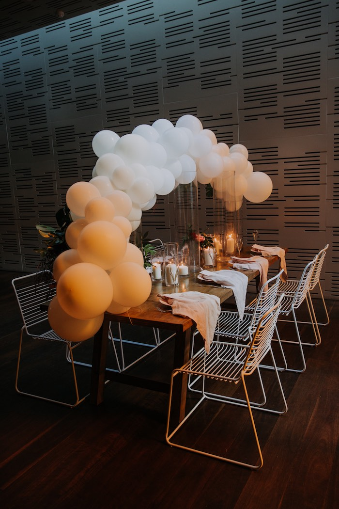 Guest Table from a Chic Modern Rooftop Wedding on Kara's Party Ideas | KarasPartyIdeas.com (7)