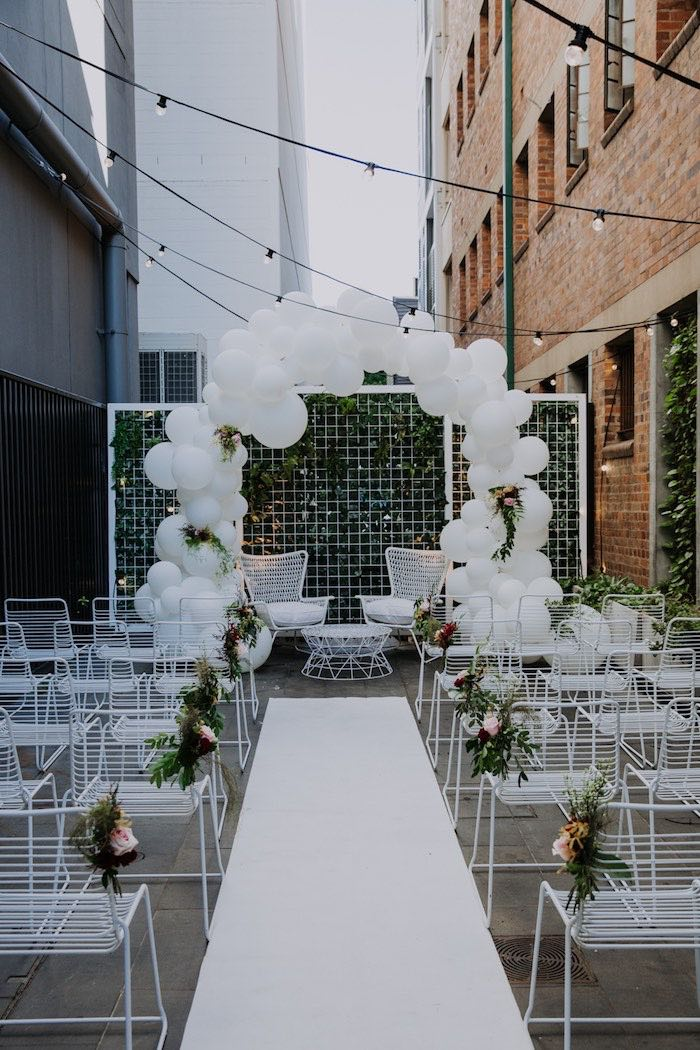 Kara's Party Ideas Chic Modern Rooftop Wedding