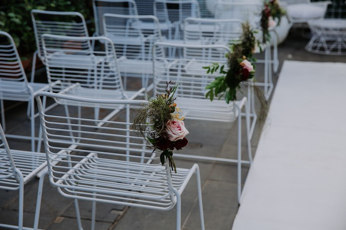Aisle Blooms from a Chic Modern Rooftop Wedding on Kara's Party Ideas | KarasPartyIdeas.com (31)