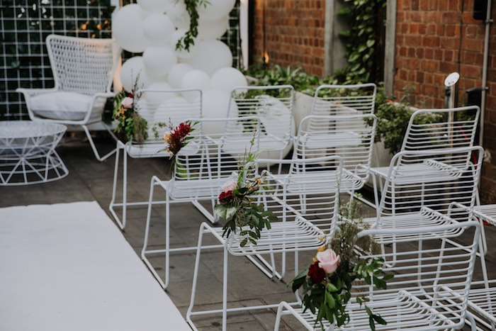 Wedding Aisle from a Chic Modern Rooftop Wedding on Kara's Party Ideas | KarasPartyIdeas.com (30)
