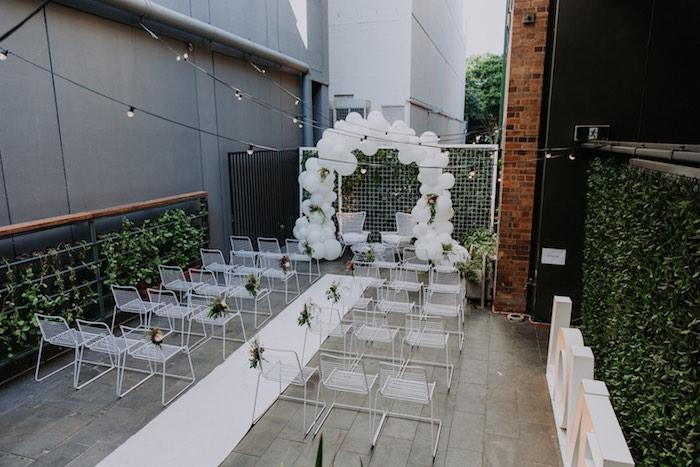 Chic Modern Rooftop Wedding on Kara's Party Ideas   KarasPartyIdeas.com (26)