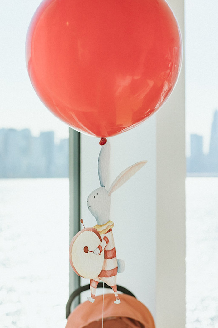Red Jumbo Balloon with Circus Bunny Tail from a Classic Circus Party on Kara's Party Ideas | KarasPartyIdeas.com (42)