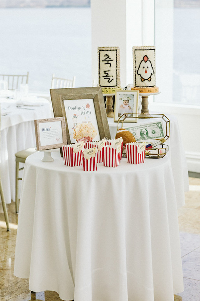 Circus Themed Doljabi Table from a Classic Circus Party on Kara's Party Ideas | KarasPartyIdeas.com (35)