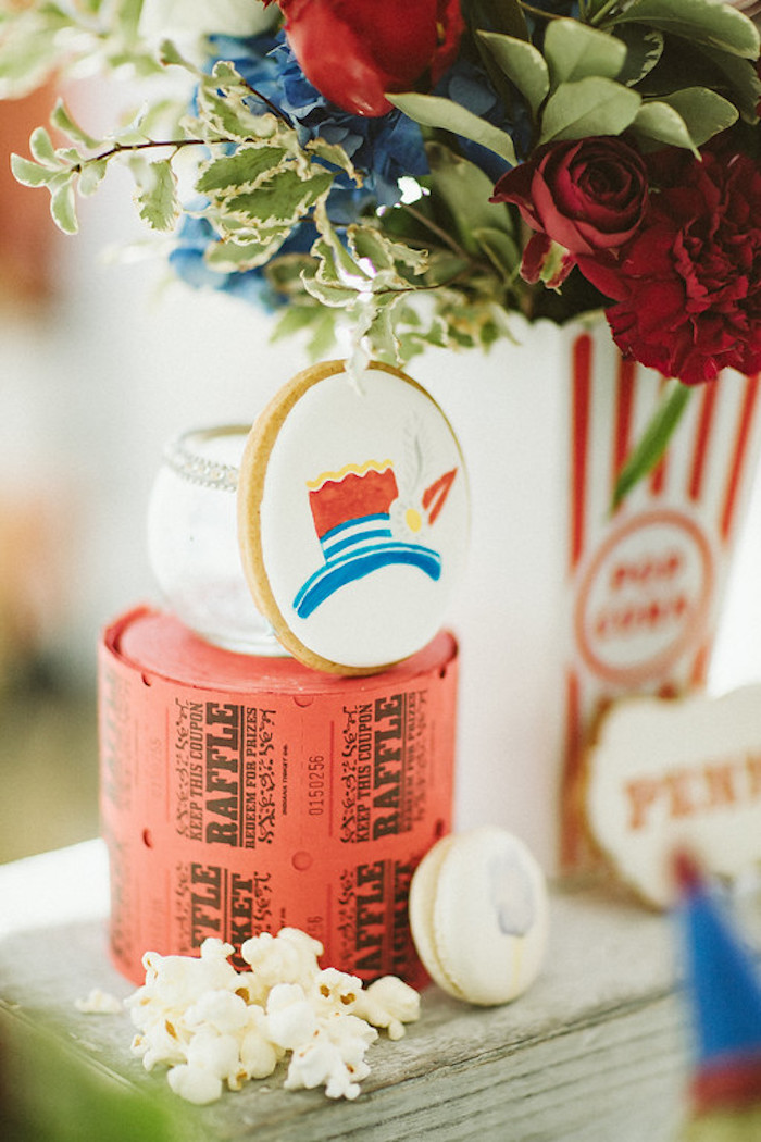 Ticket Rolls + Cookies from a Classic Circus Party on Kara's Party Ideas | KarasPartyIdeas.com (30)