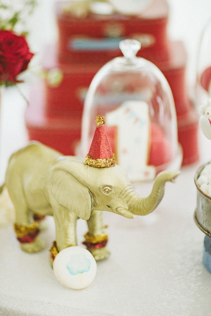 Gold Circus Elephant from a Classic Circus Party on Kara's Party Ideas | KarasPartyIdeas.com (28)