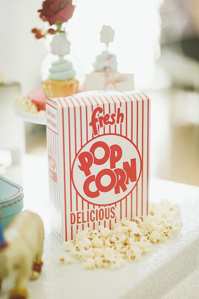 Popcorn Box from a Classic Circus Party on Kara's Party Ideas | KarasPartyIdeas.com (27)