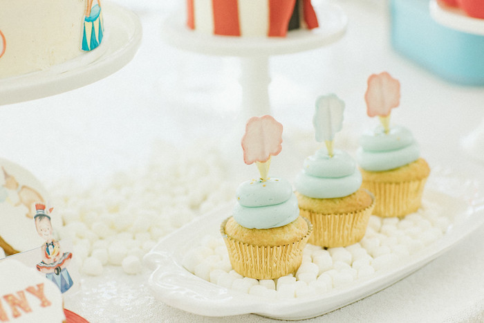 Circus Cupcakes from a Classic Circus Party on Kara's Party Ideas | KarasPartyIdeas.com (21)