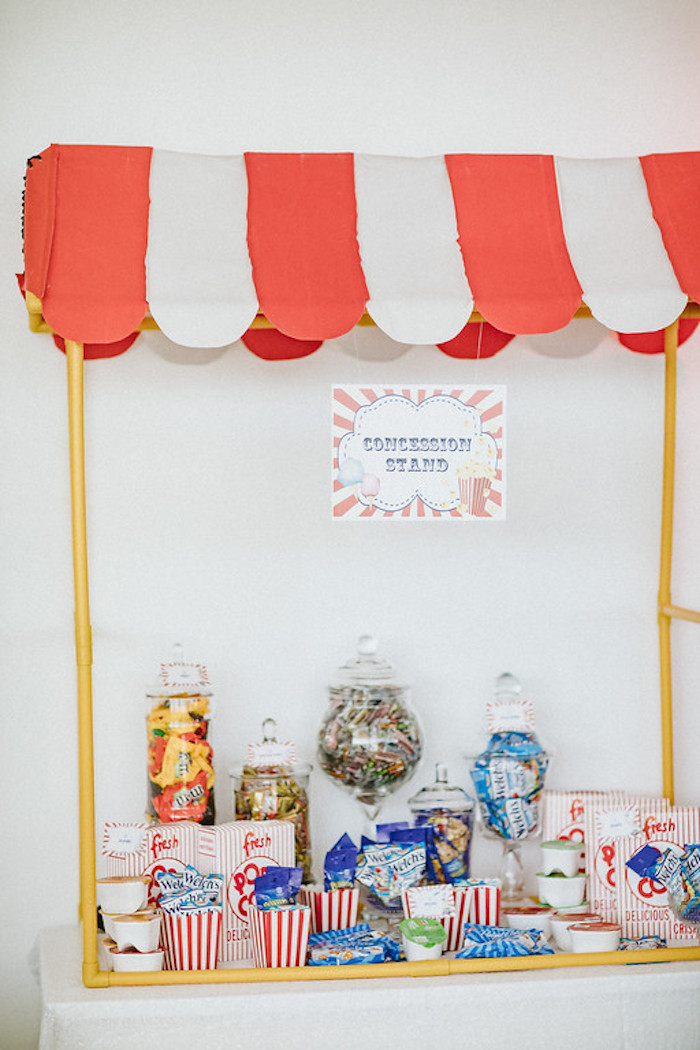 Circus Themed Concession Stand from a Classic Circus Party on Kara's Party Ideas | KarasPartyIdeas.com (19)