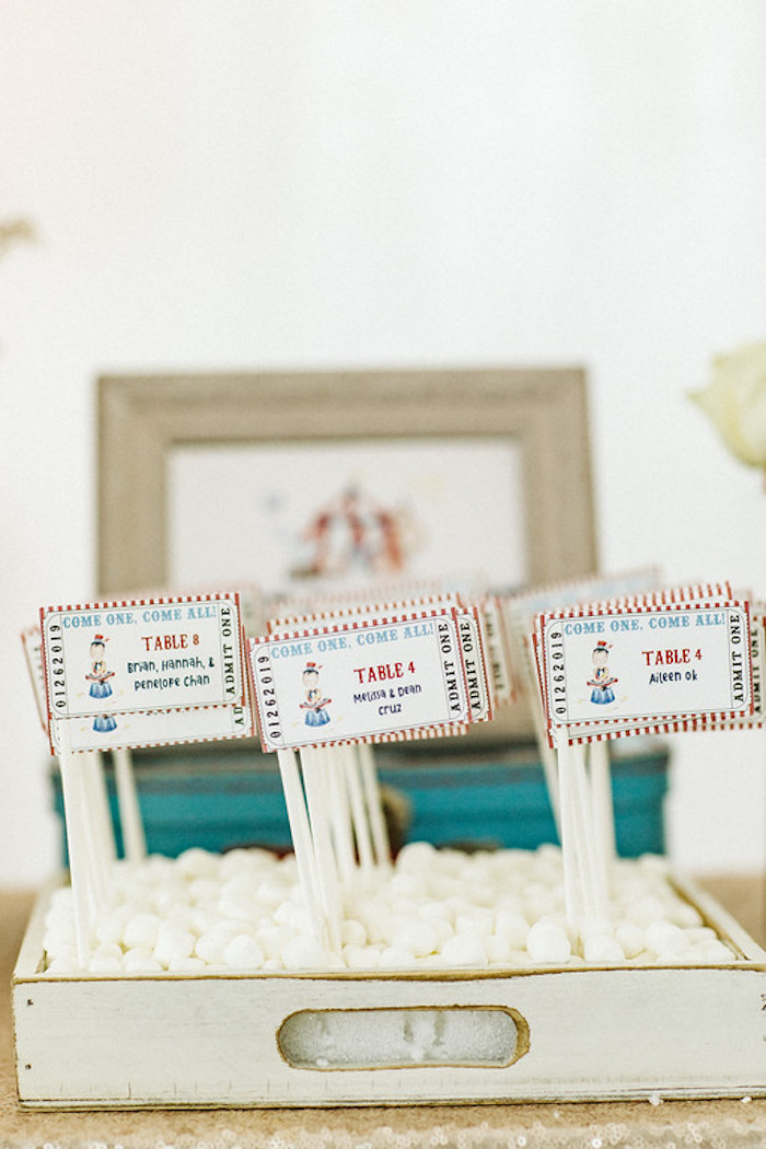 Circus Themed Seating Chart from a Classic Circus Party on Kara's Party Ideas | KarasPartyIdeas.com (17)