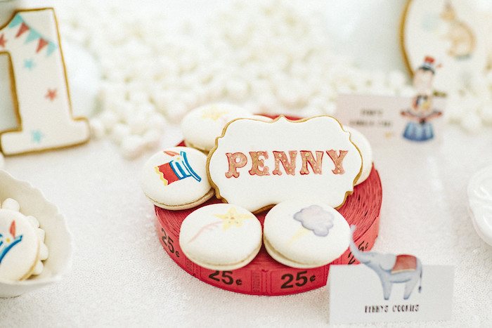 Circus Cookies + Macarons from Classic Circus Party on Kara's Party Ideas | KarasPartyIdeas.com (11)