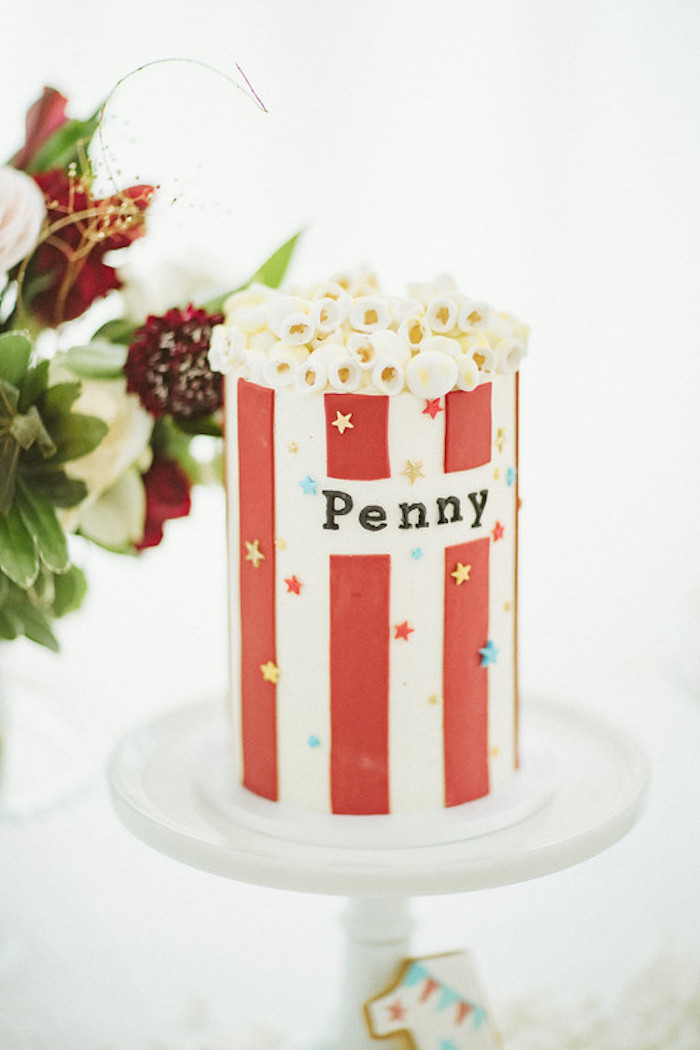 Popcorn Box Cake from a Classic Circus Party on Kara's Party Ideas | KarasPartyIdeas.com (47)