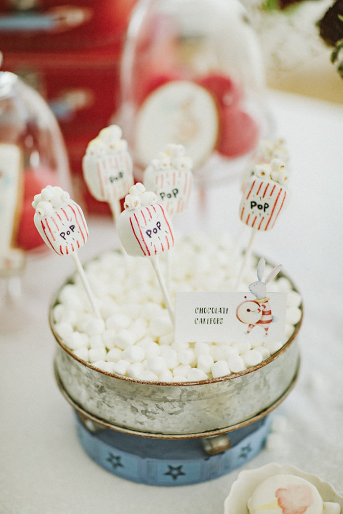 Popcorn Box Cake Pops from a Classic Circus Party on Kara's Party Ideas | KarasPartyIdeas.com (46)