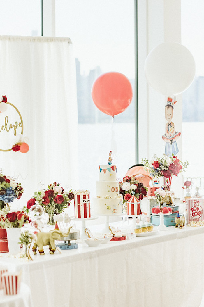 Circus Themed Dessert Table from a Classic Circus Party on Kara's Party Ideas | KarasPartyIdeas.com (43)
