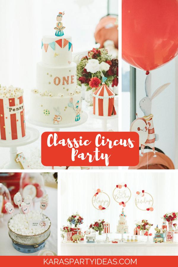 Classic Circus Party via Kara's Party Ideas - KarasPartyIdeas.com