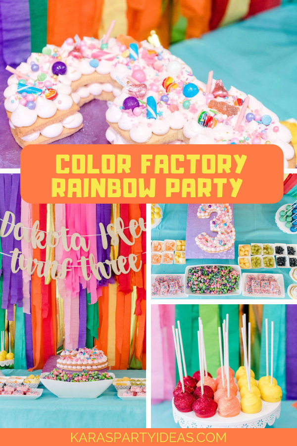 Color Factory Rainbow Party via Kara's Party Ideas - KarasPartyIdeas.com