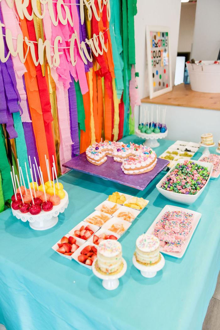 Rainbow Dessert + Food Table from a Color Factory Rainbow on Kara's Party Ideas | KarasPartyIdeas.com (19)