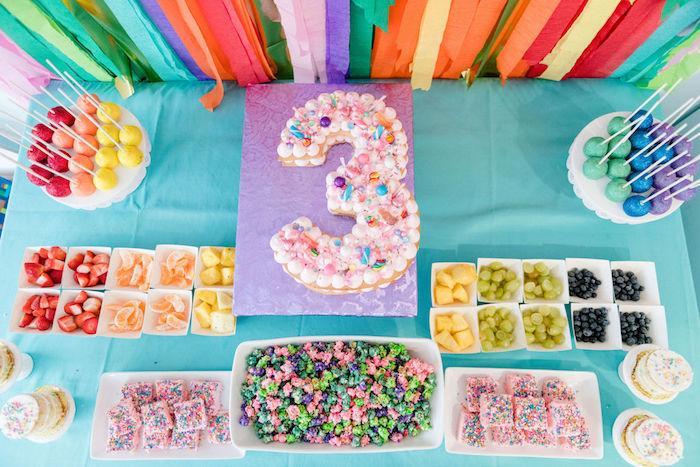 Rainbow Dessert + Food Table from a Color Factory Rainbow on Kara's Party Ideas | KarasPartyIdeas.com (18)