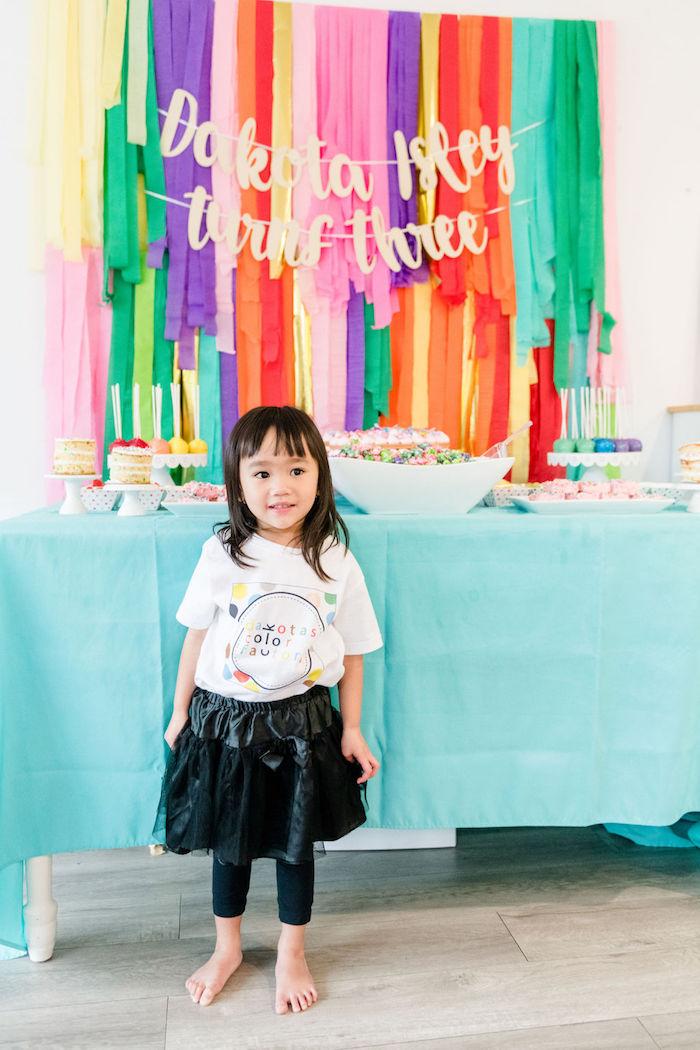 Rainbow Dessert Table from a Color Factory Rainbow on Kara's Party Ideas | KarasPartyIdeas.com (10)