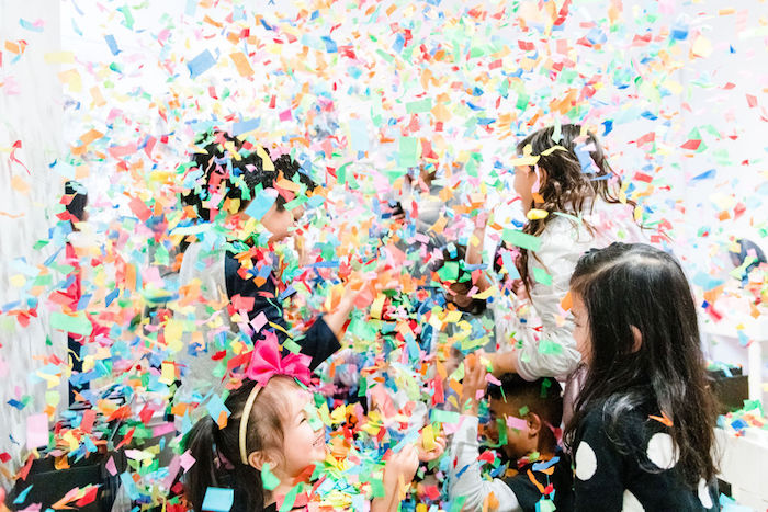 Confetti from a Color Factory Rainbow on Kara's Party Ideas | KarasPartyIdeas.com (7)