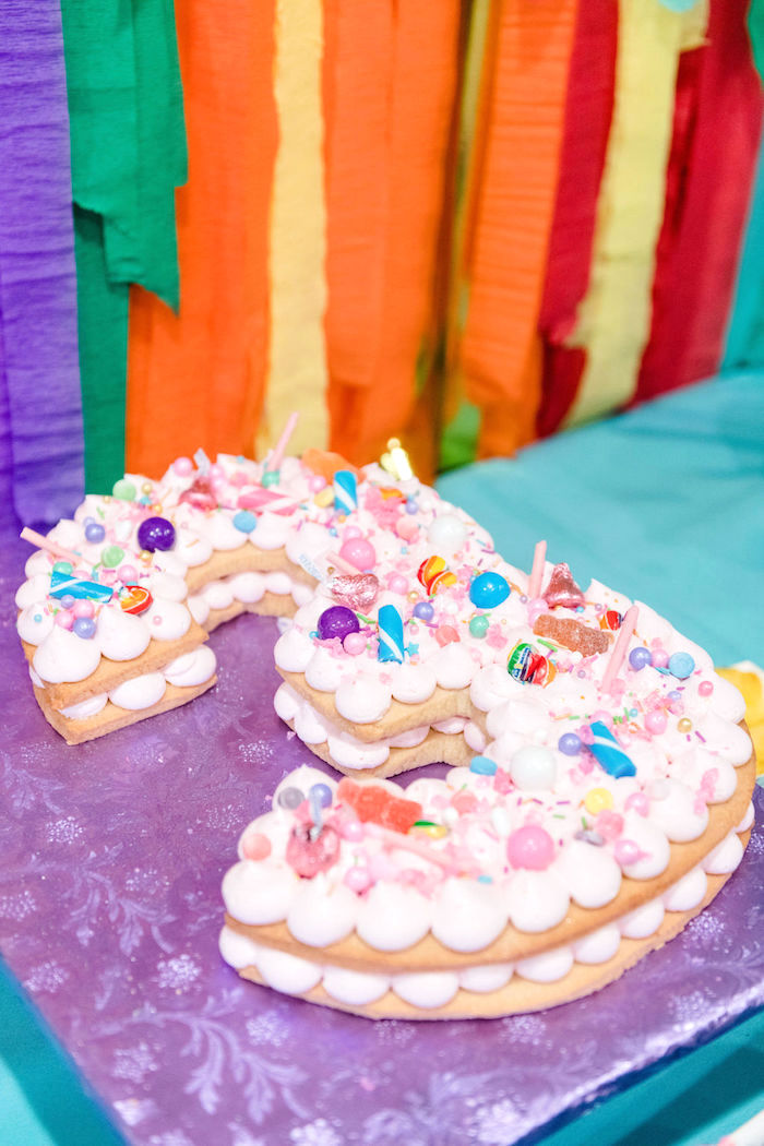 Candy Confetti Cake from a Color Factory Rainbow on Kara's Party Ideas | KarasPartyIdeas.com (6)