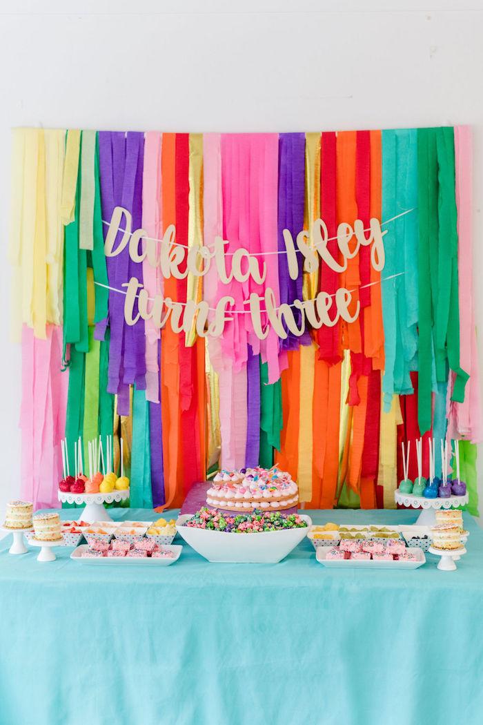 Rainbow Dessert Table from a Color Factory Rainbow on Kara's Party Ideas | KarasPartyIdeas.com (26)