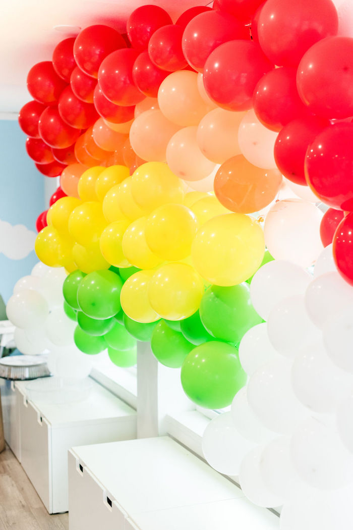 Rainbow Balloon Installation from a Color Factory Rainbow on Kara's Party Ideas | KarasPartyIdeas.com (23)