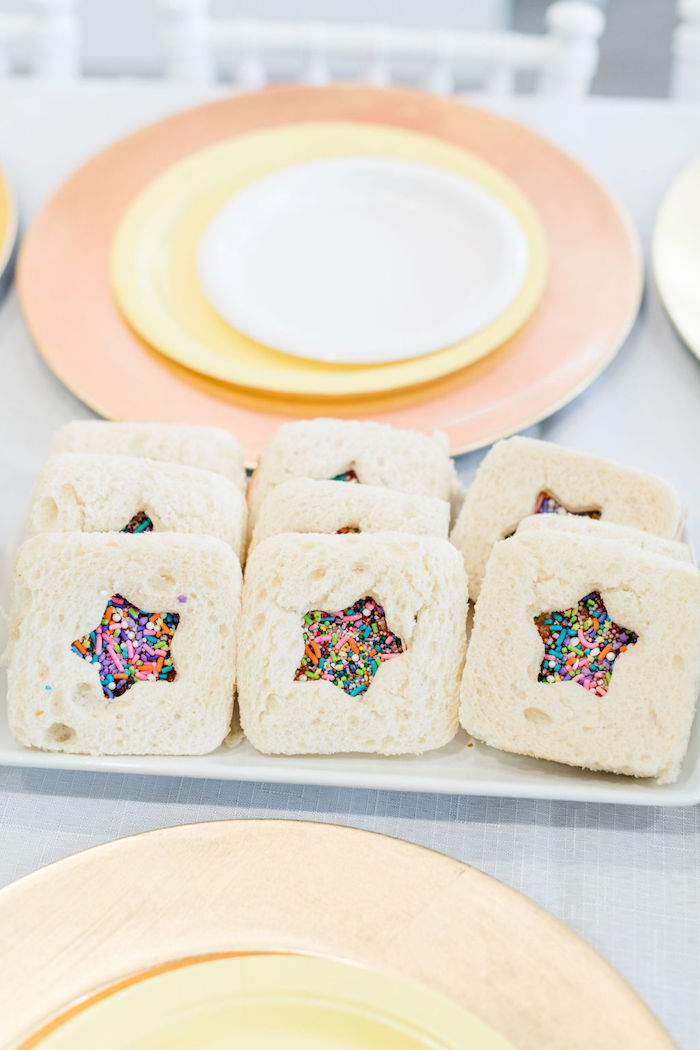 Sprinkle Star Cookies from a Color Factory Rainbow on Kara's Party Ideas | KarasPartyIdeas.com (22)