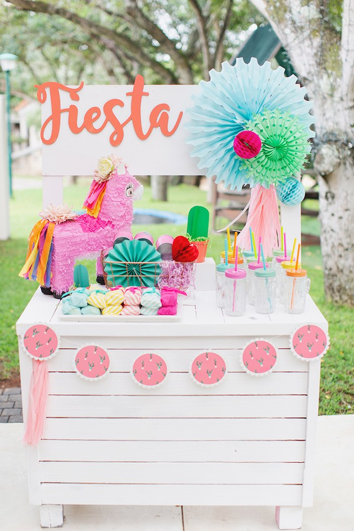 Fiesta Favor Stand from a Colorful Frida Kahlo Fiesta on Kara's Party Ideas | KarasPartyIdeas.com (7)