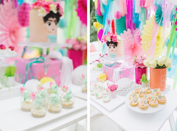 Fiesta Themed Sweets from a Colorful Frida Kahlo Fiesta on Kara's Party Ideas | KarasPartyIdeas.com (4)