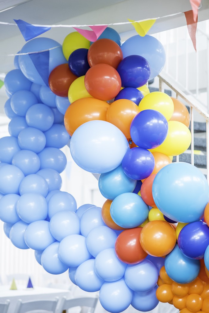 Balloon Installation from a Colorful Music Birthday Party on Kara's Party Ideas | KarasPartyIdeas.com (9)