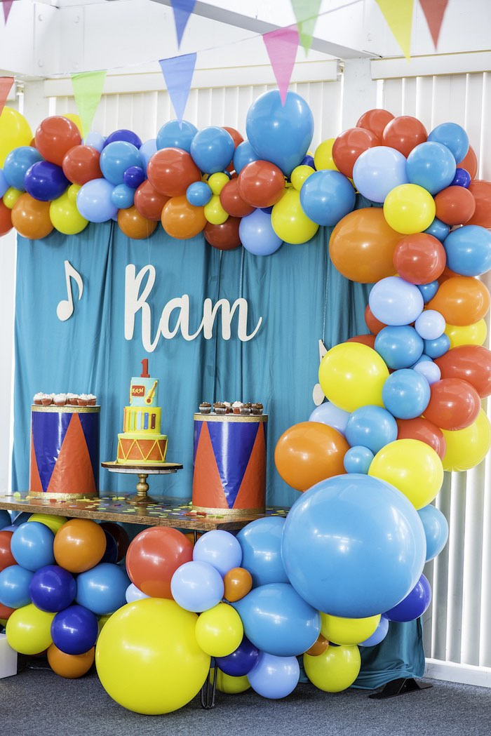 Music Themed Dessert Table from a Colorful Music Birthday Party on Kara's Party Ideas | KarasPartyIdeas.com (8)