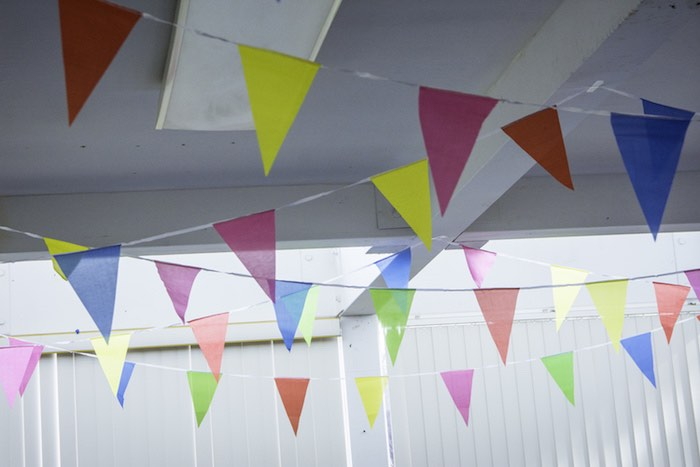 Colored Pennant Banners from a Colorful Music Birthday Party on Kara's Party Ideas | KarasPartyIdeas.com (6)
