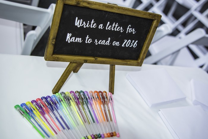 Signing Table from a Colorful Music Birthday Party on Kara's Party Ideas | KarasPartyIdeas.com (21)