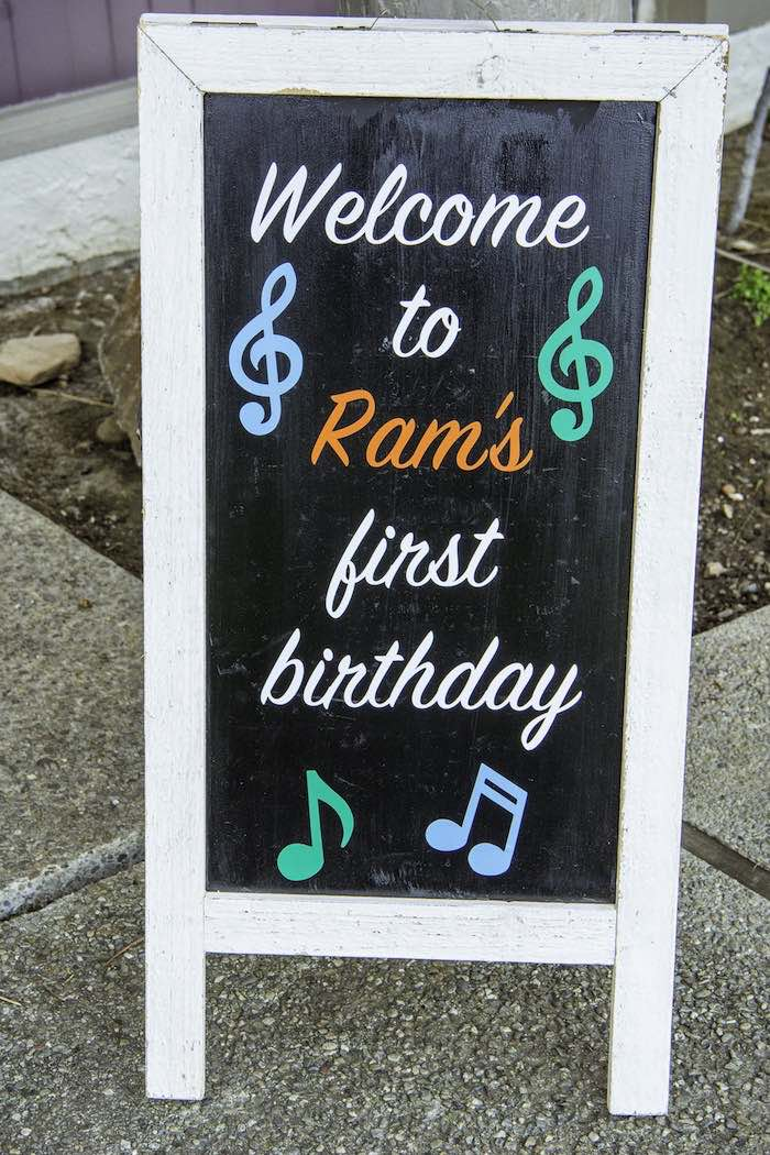 Music-inspired Chalkboard Sign from a Colorful Music Birthday Party on Kara's Party Ideas | KarasPartyIdeas.com (20)