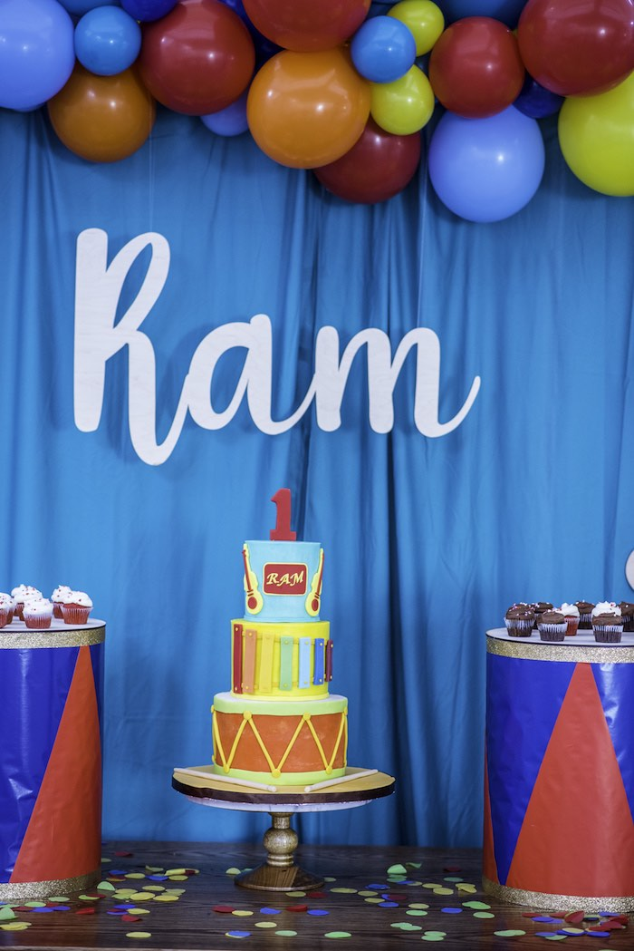 Music Themed Cake from a Colorful Music Birthday Party on Kara's Party Ideas | KarasPartyIdeas.com (18)