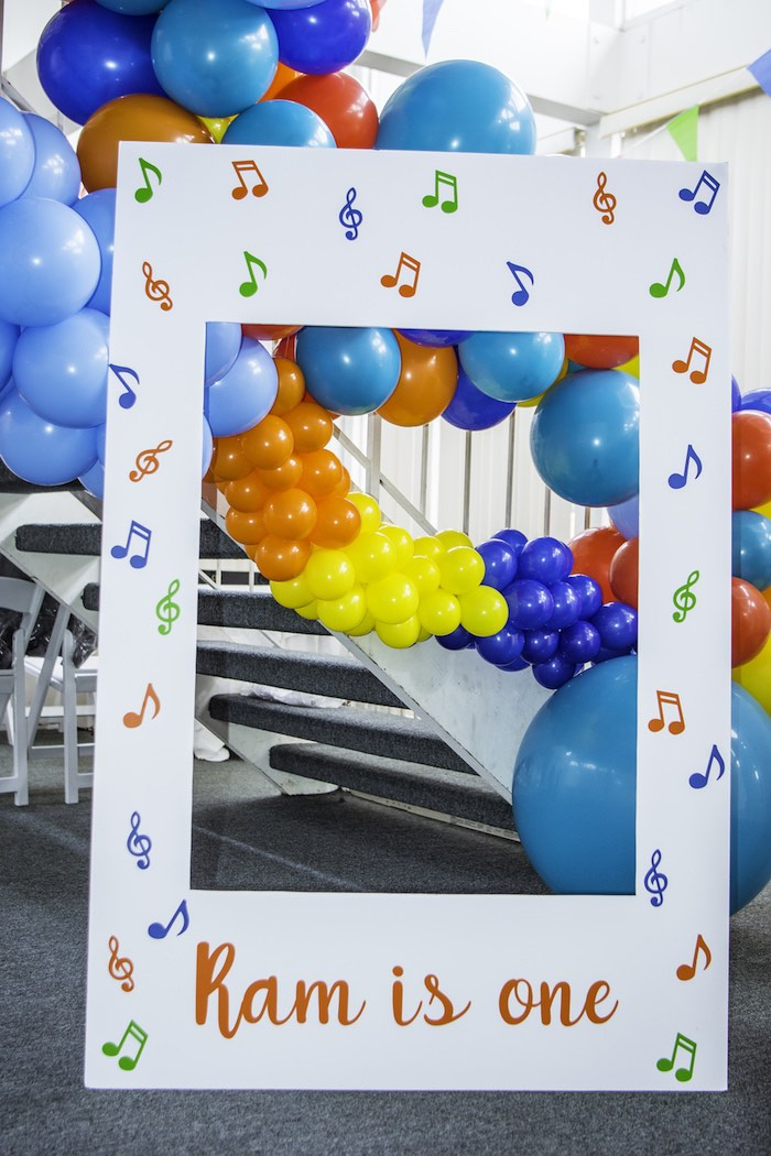 Music Note Photo Frame from a Colorful Music Birthday Party on Kara's Party Ideas | KarasPartyIdeas.com (17)