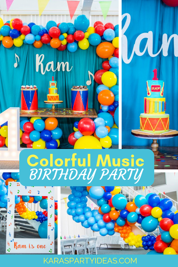Colorful Music Birthday Party via Kara's Party Ideas - KarasPartyIdeas.com