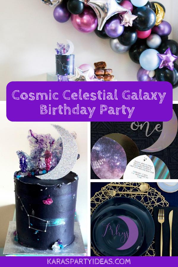 Cosmic Celestial Galaxy Birthday Party via Kara's Party Ideas - KarasPartyIdeas.com
