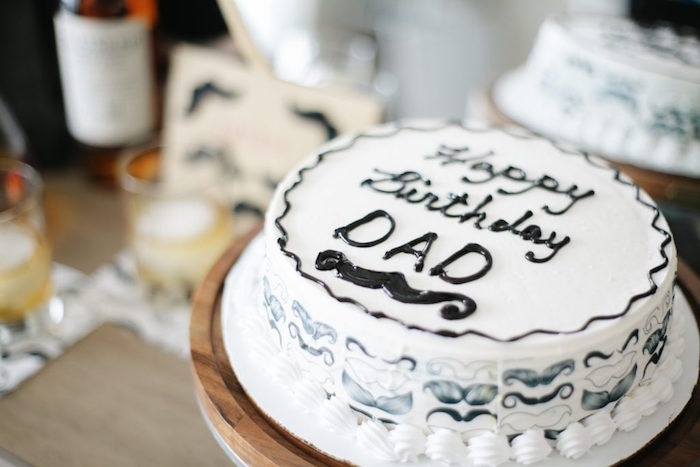 Mustache Cake from a Debonair Mustache Party on Kara's Party Ideas | KarasPartyIdeas.com (10)