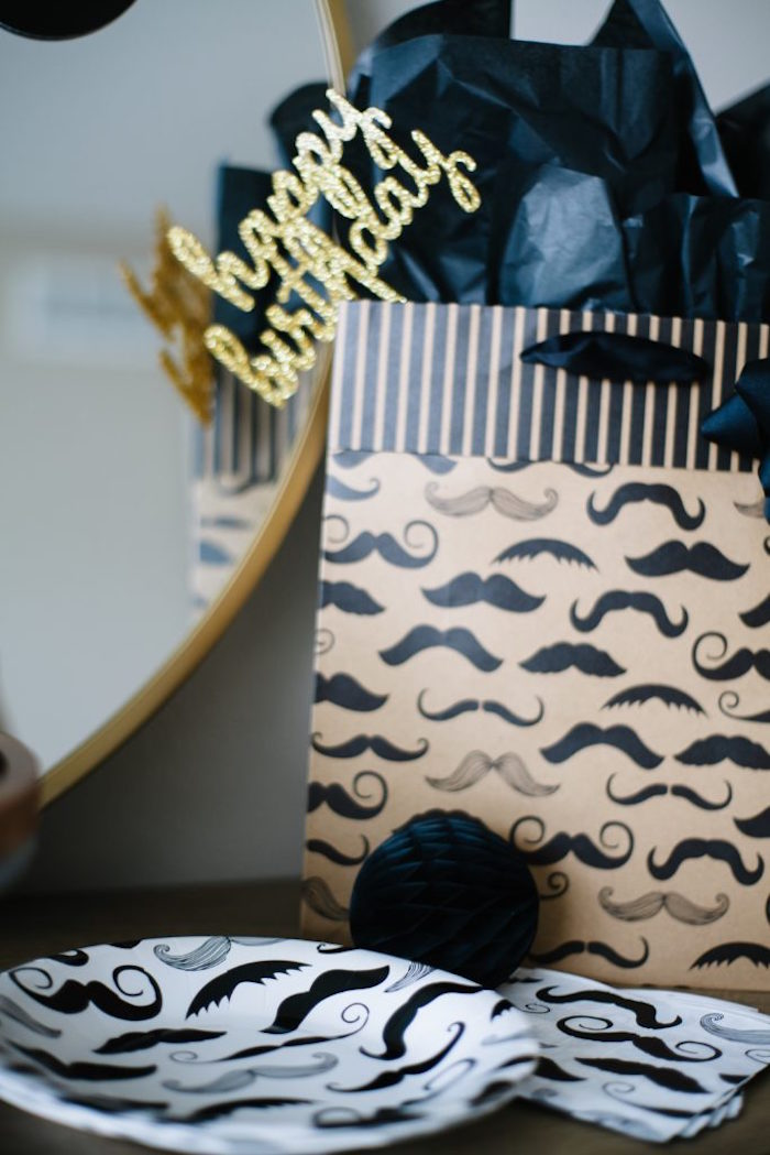 Mustache Partyware from a Debonair Mustache Party on Kara's Party Ideas | KarasPartyIdeas.com (9)