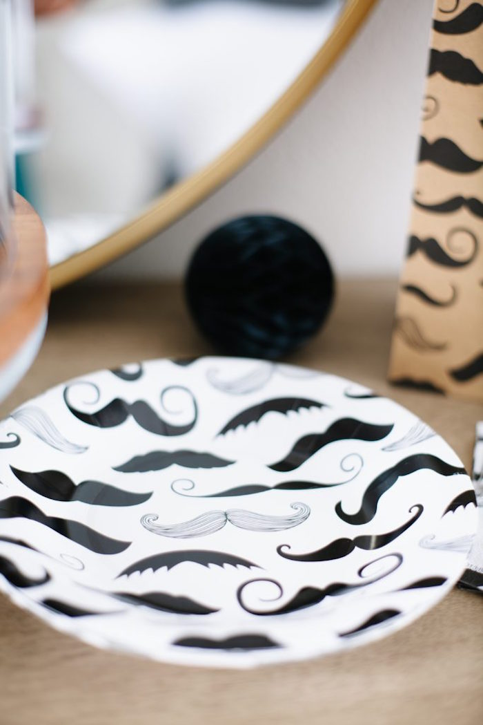Mustache Plates from a Debonair Mustache Party on Kara's Party Ideas | KarasPartyIdeas.com (18)