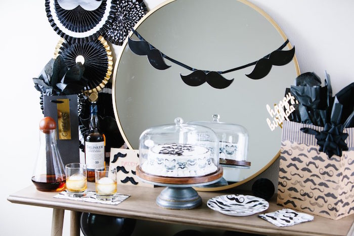 Mustache Cake Table from a Debonair Mustache Party on Kara's Party Ideas | KarasPartyIdeas.com (17)