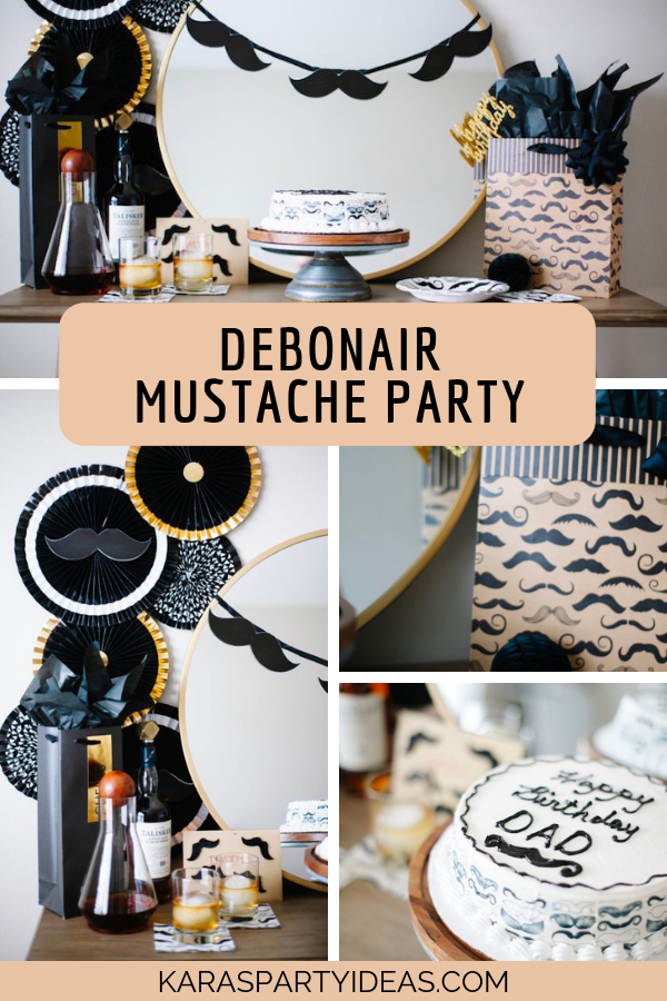 Debonair Mustache Party via Kara's Party Ideas - KarasPartyIdeas.com