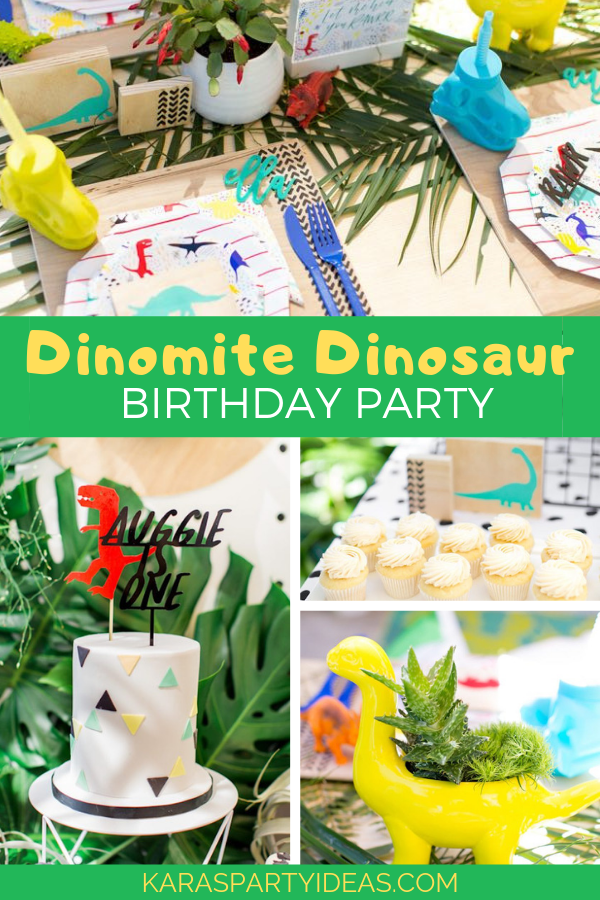 Dinomite Dinosuar Birthday Party via Kara's Party Ideas - KarasPartyIdeas.com