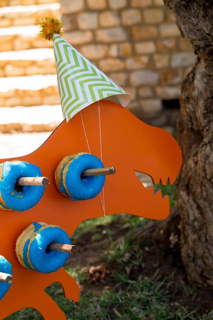 T-Rex Doughnut Board from a Dinosaur Birthday Party on Kara's Party Ideas | KarasPartyIdeas.com (19)