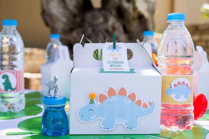 Dinosaur Lunchbox Table Setting from a Dinosaur Birthday Party on Kara's Party Ideas | KarasPartyIdeas.com (15)