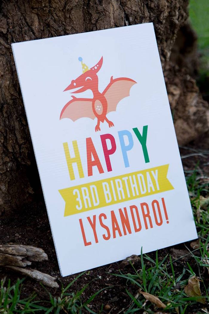 Dinosaur Birthday Party Signage from a Dinosaur Birthday Party on Kara's Party Ideas | KarasPartyIdeas.com (39)